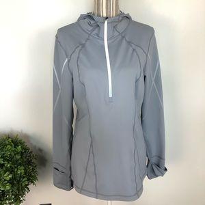 Zella Large Grey athletic reflective jacket thumbs
